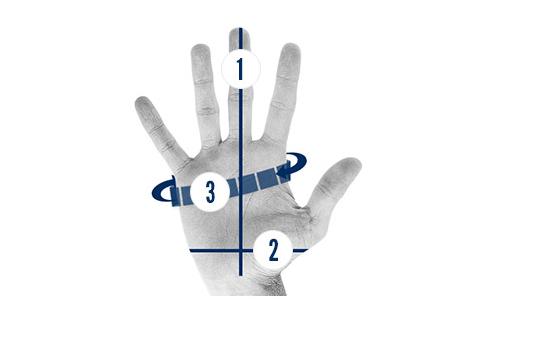 đo kích thước tay để chọn găng