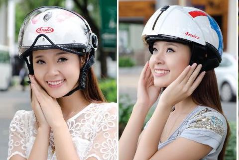 mũ bảo hiểm nửa đầu đẹp