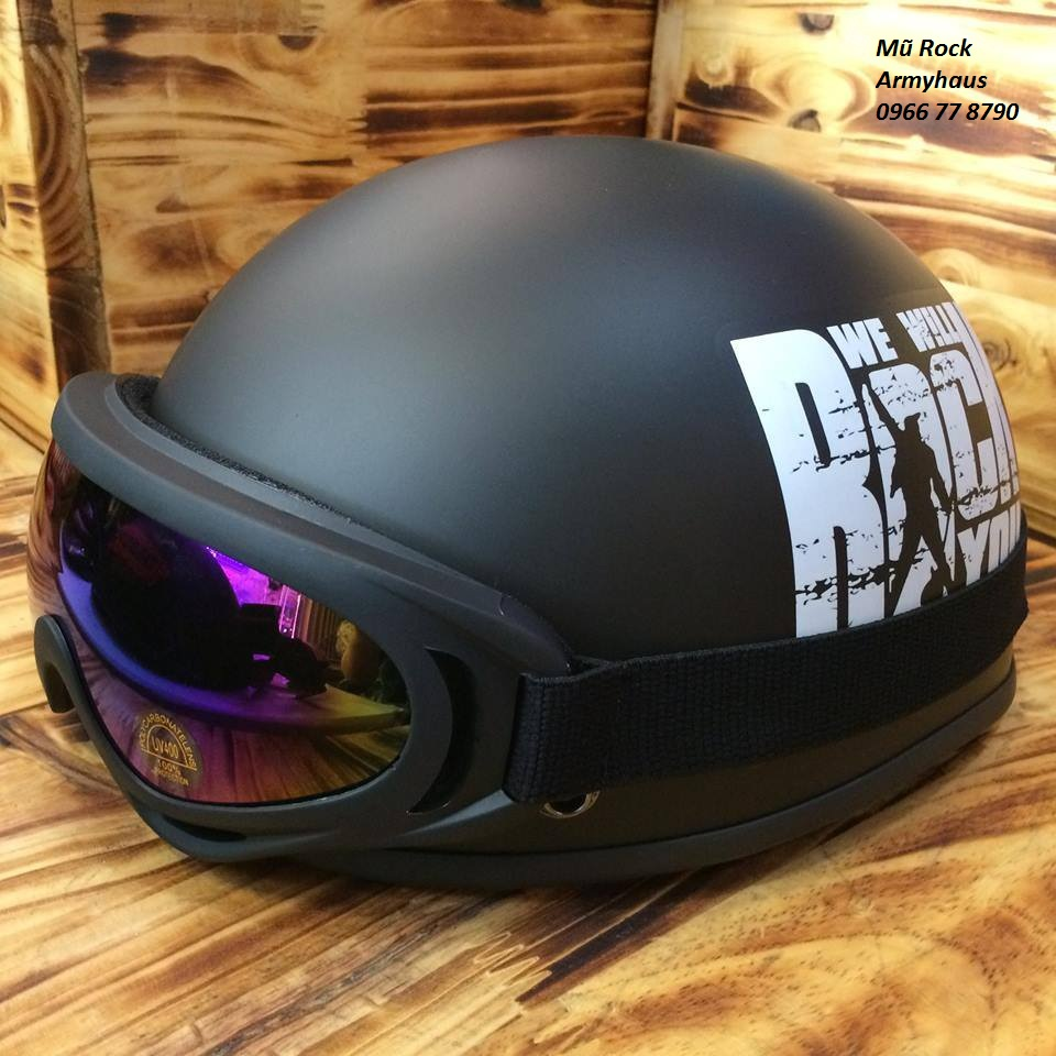 Mũ bảo hiểm có kính chống tia UV