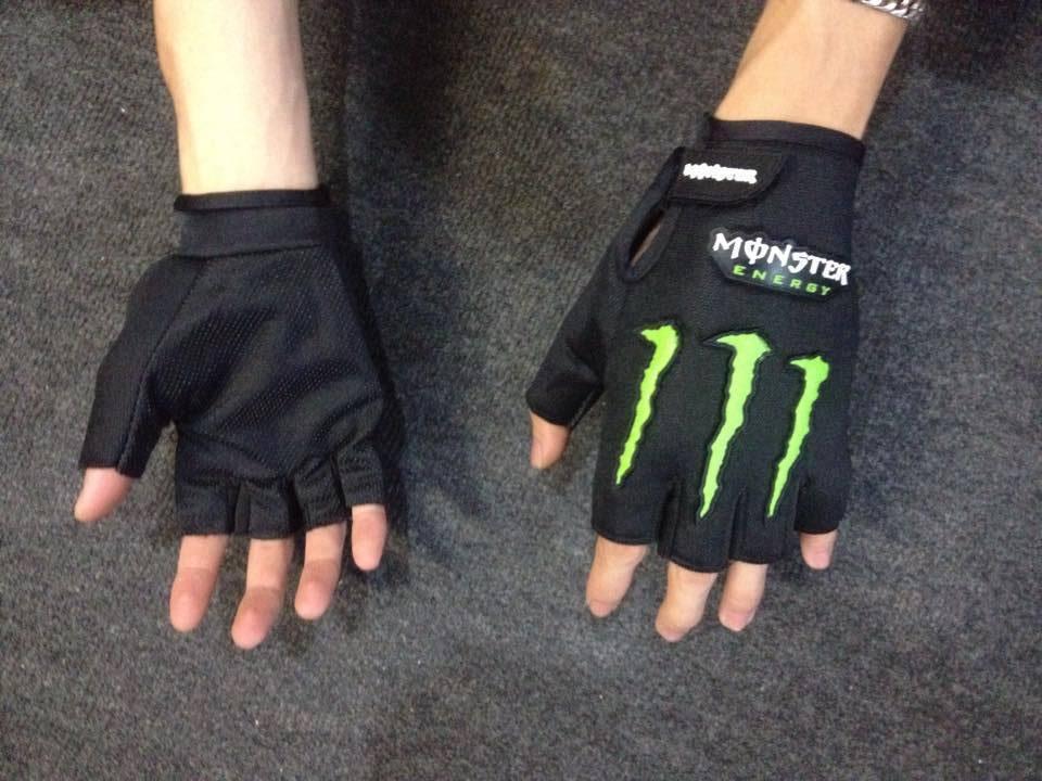 Găng tay hở ngón xe máy Monster