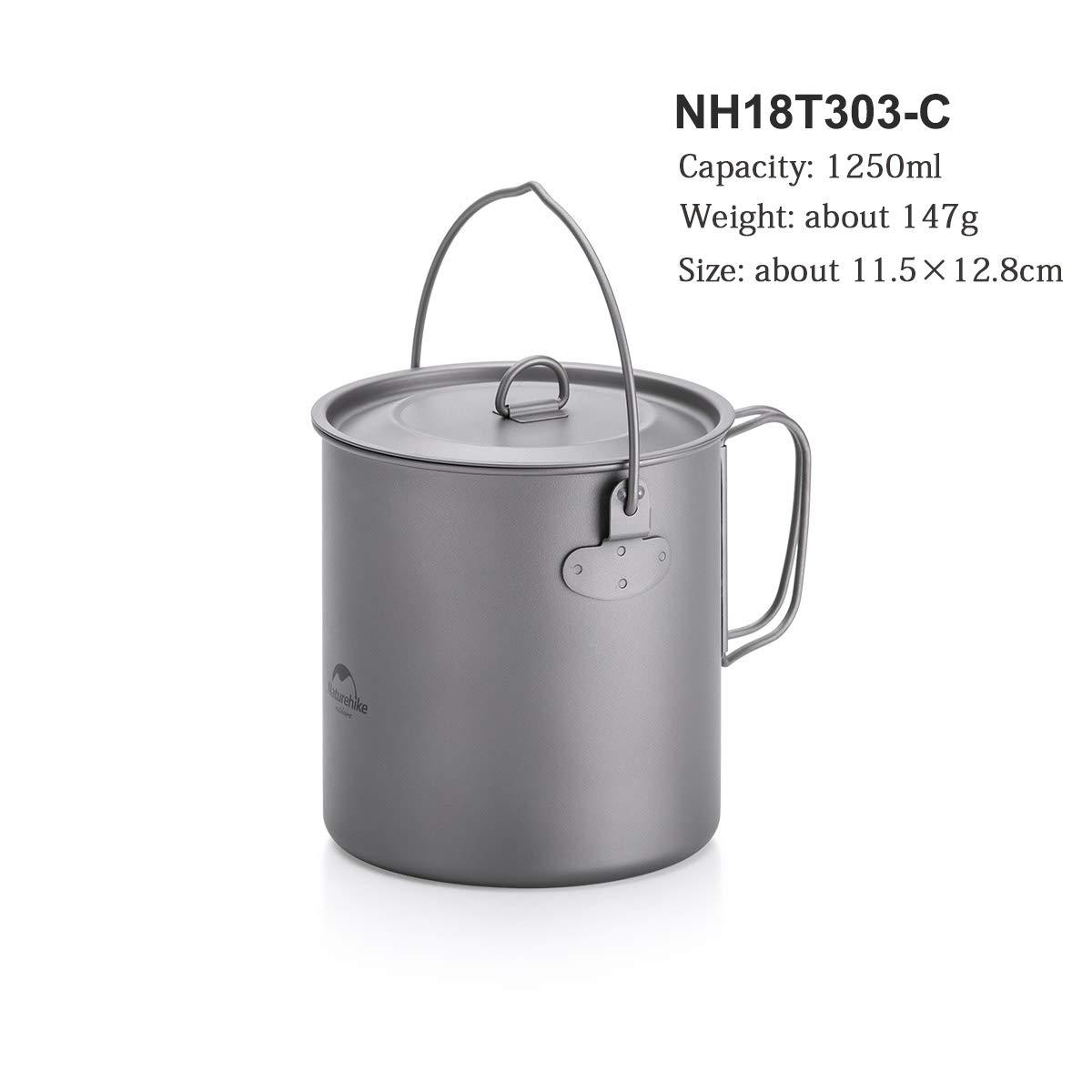 Nồi du lịch đa năng Titanium Naturehike NH18T303-C 1250ml